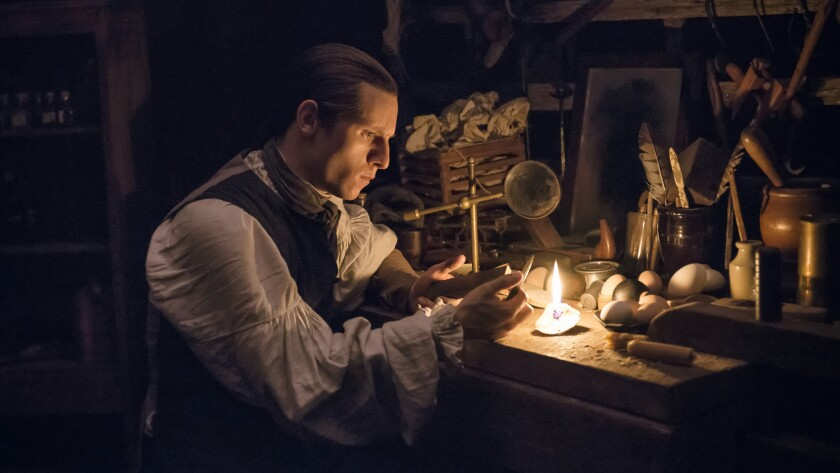 """When monitoring British forces in New York, Abe Woodhull (Jamie Bell) inscribes his secret notes on the shells of hard-boiled eggs on """"Turn: Washington's Spies."""""""