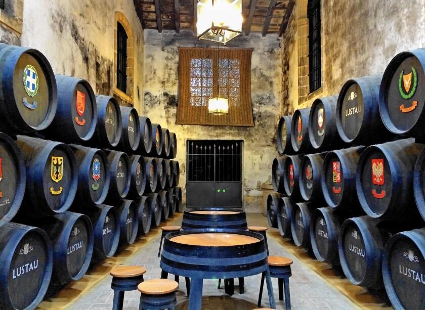 Bodegas Emilio Lustau in Jerez de la Frontera, where the best barrels of sherry are kept in the sacristy.