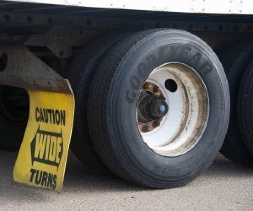 Semi-trailer truck tires