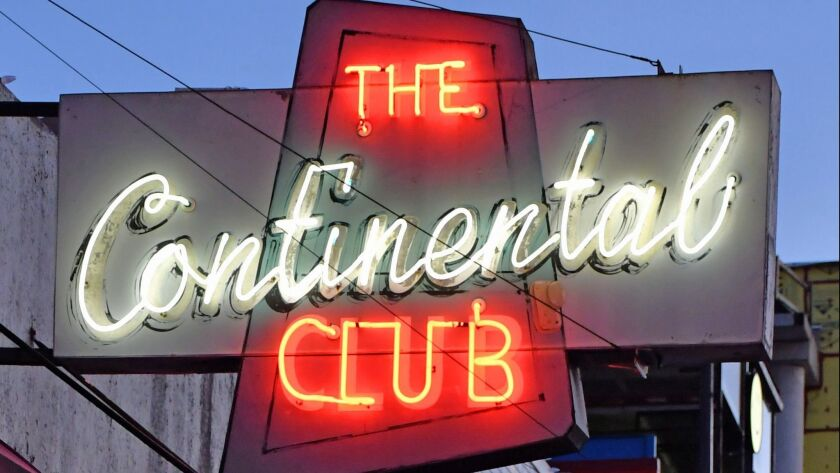 The Continental Club started life in the 1950s as a chic restaurant with a world view.