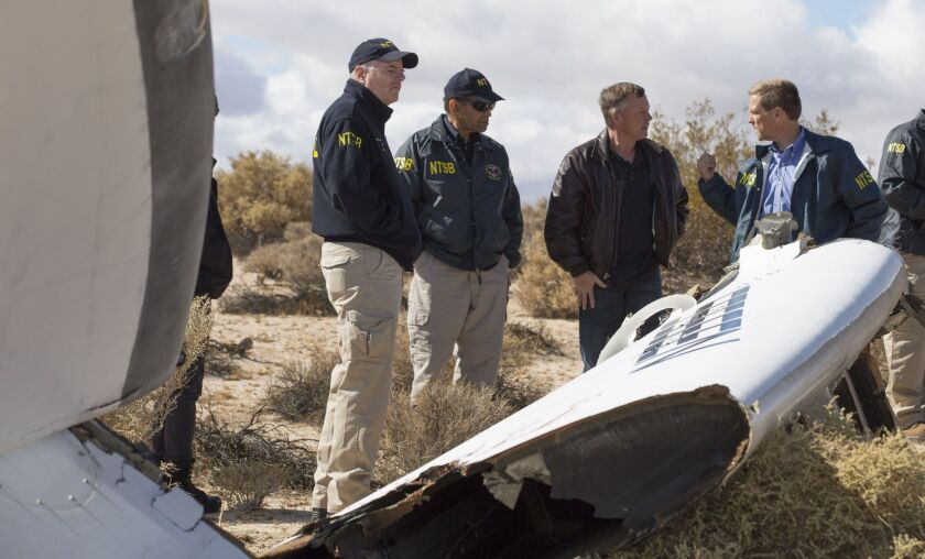 NTSB investigates SpaceShipTwo crash