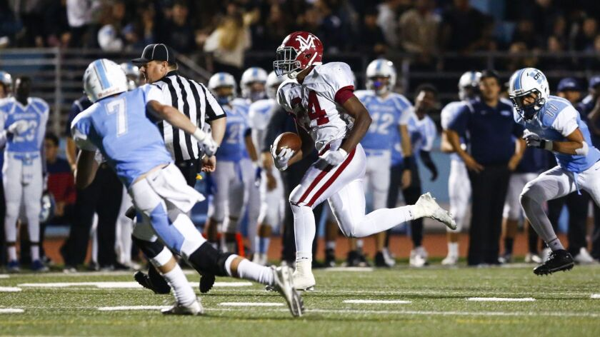 Monte Vista High running back Jahmon McClendon has rushed for 742 yards (185.5 ypg) and 14 touchdowns through four games this season. McClendon led the county in rushing last year with 2,492 yards and 40 TDs.