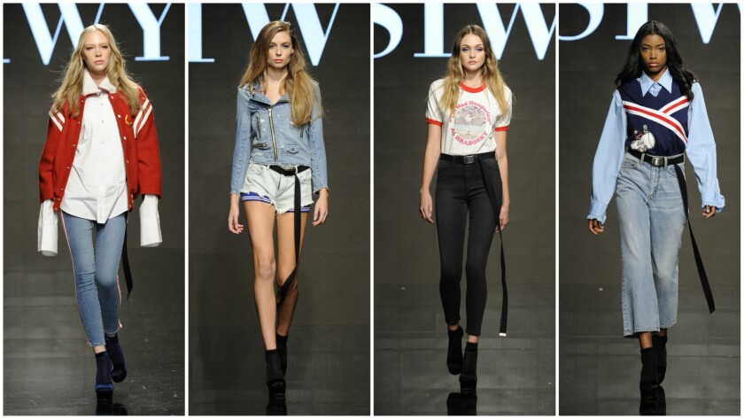 Looks from the Siwy Denim spring/summer 2017 runway collection presented on Oct. 10 during Art Hearts Fashion Week Los Angeles.