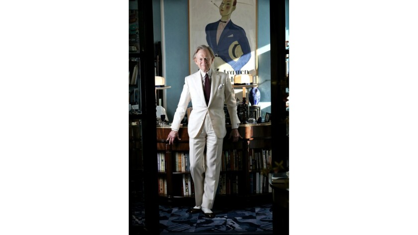 Tom Wolfe makes the white suit his signature look.