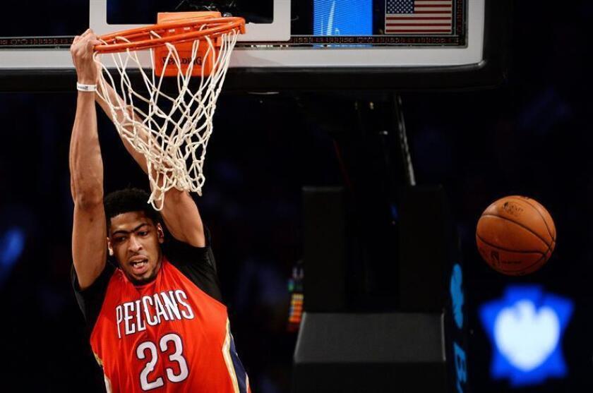 En la imagen, el jugador Anthony Davis de los Pelicans de Nueva Orleans. EFE/Archivo