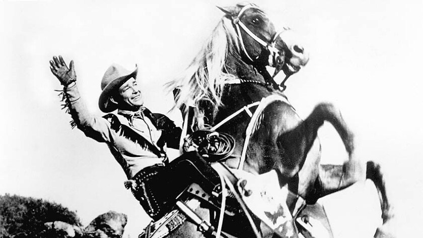 "Roy Rogers, the ""King of the Cowboys,"" appeared in more than 90 films, often with his beloved palomino, Trigger."