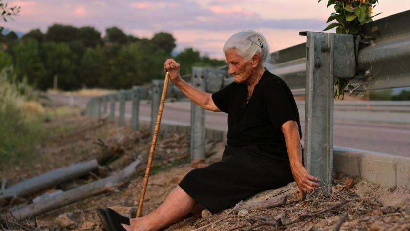 "María Martín in the documentary ""The Silence of Others."""