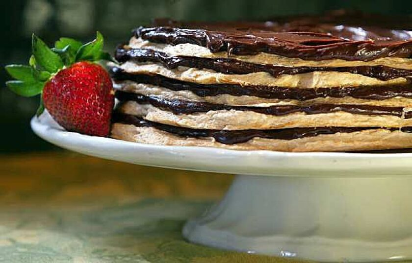 Chocolate meringue layer cake