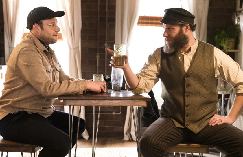 En esta imagen difundida por HBO Max, Seth Rogen, a la derecha, y Ben Greenbaum