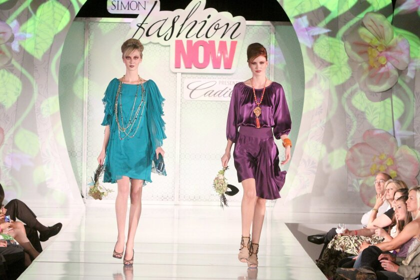Runway looks from the 2011 Simon Fashion Now show at the Houston Galleria in Texas.