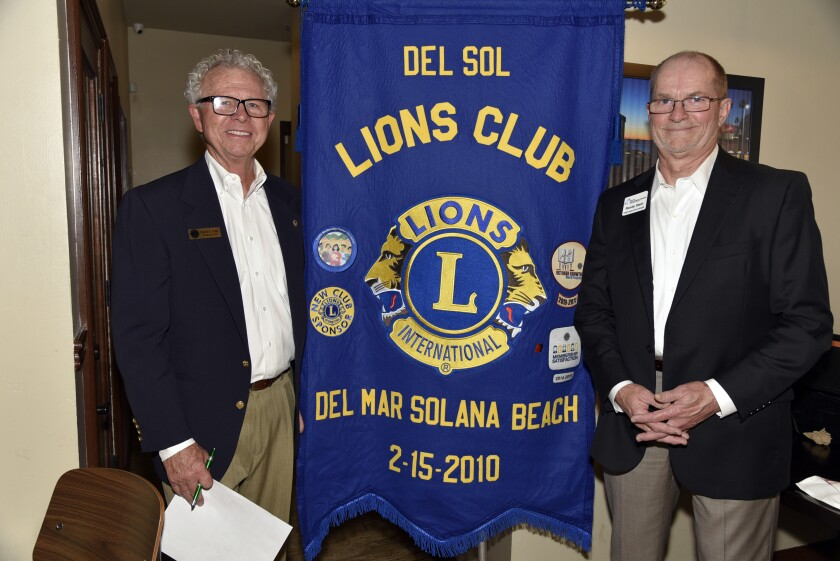 Del Sol Lions President David Cain, Lions Sight & Hearing Foundation of Southern California CEO Randy M. Stein