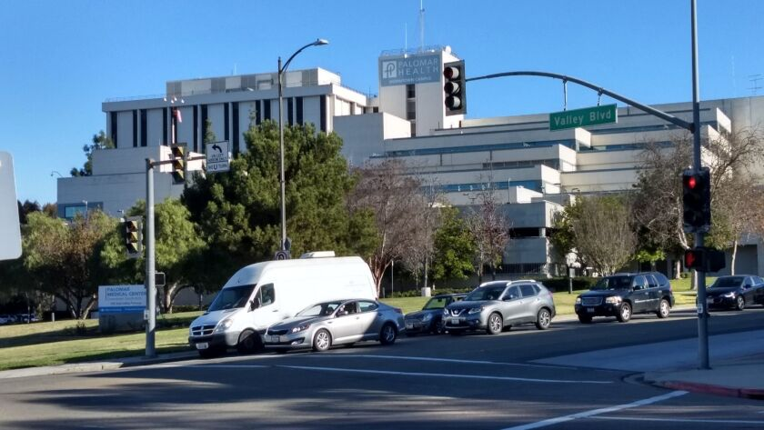 The old Palomar Hospital building in downtown Escondido will be torn down and replaced by 450-housi