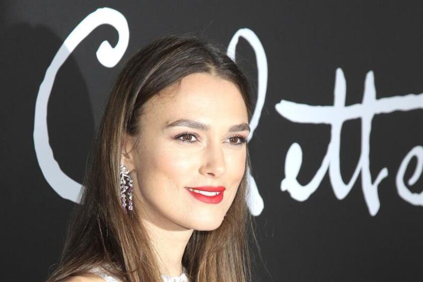 British actress/cast member Keira Knightley poses at the premiere of Bleecker Street Media's Colette at Samuel Goldwyn Theater in Los Angeles California. EFE/EPA/File