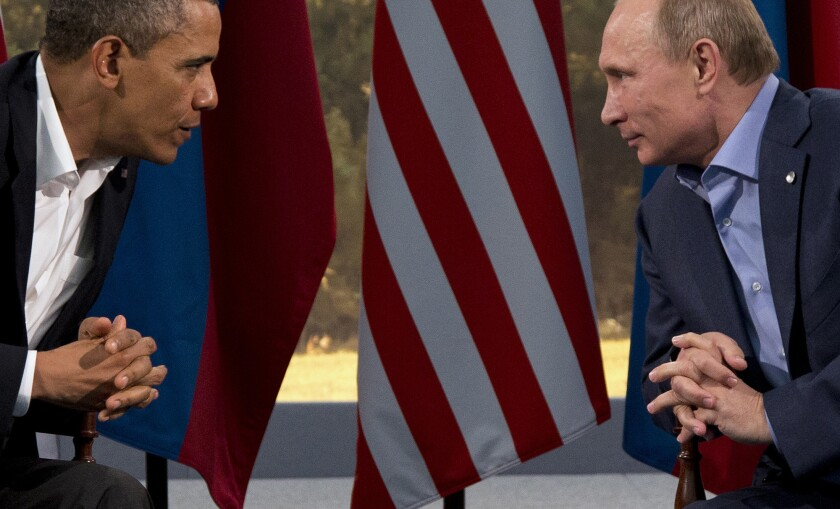 Obama S Putin Snub Los Angeles Times