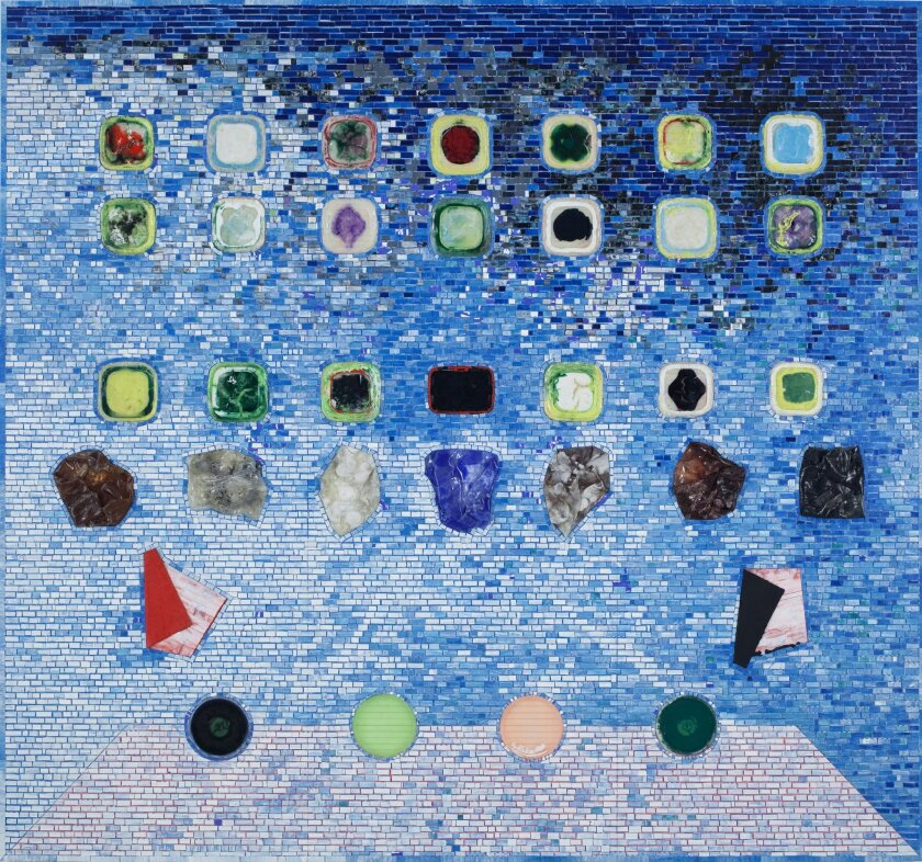 Jack Whitten's 'Apps for Obama' (2011) is made from acrylic paint on hollow core door.