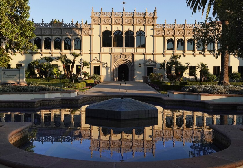 The Hughes Administration Center at University of San Diego.