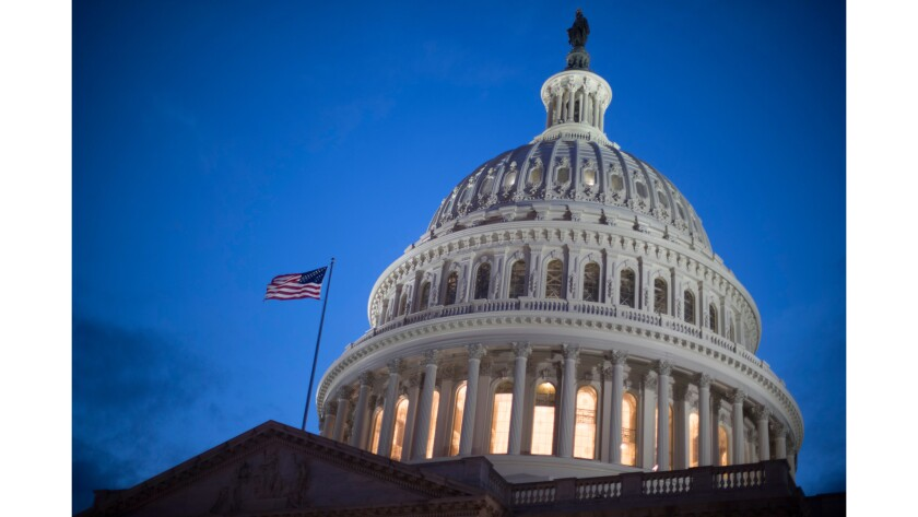 The U.S. Capitol building in Washington.
