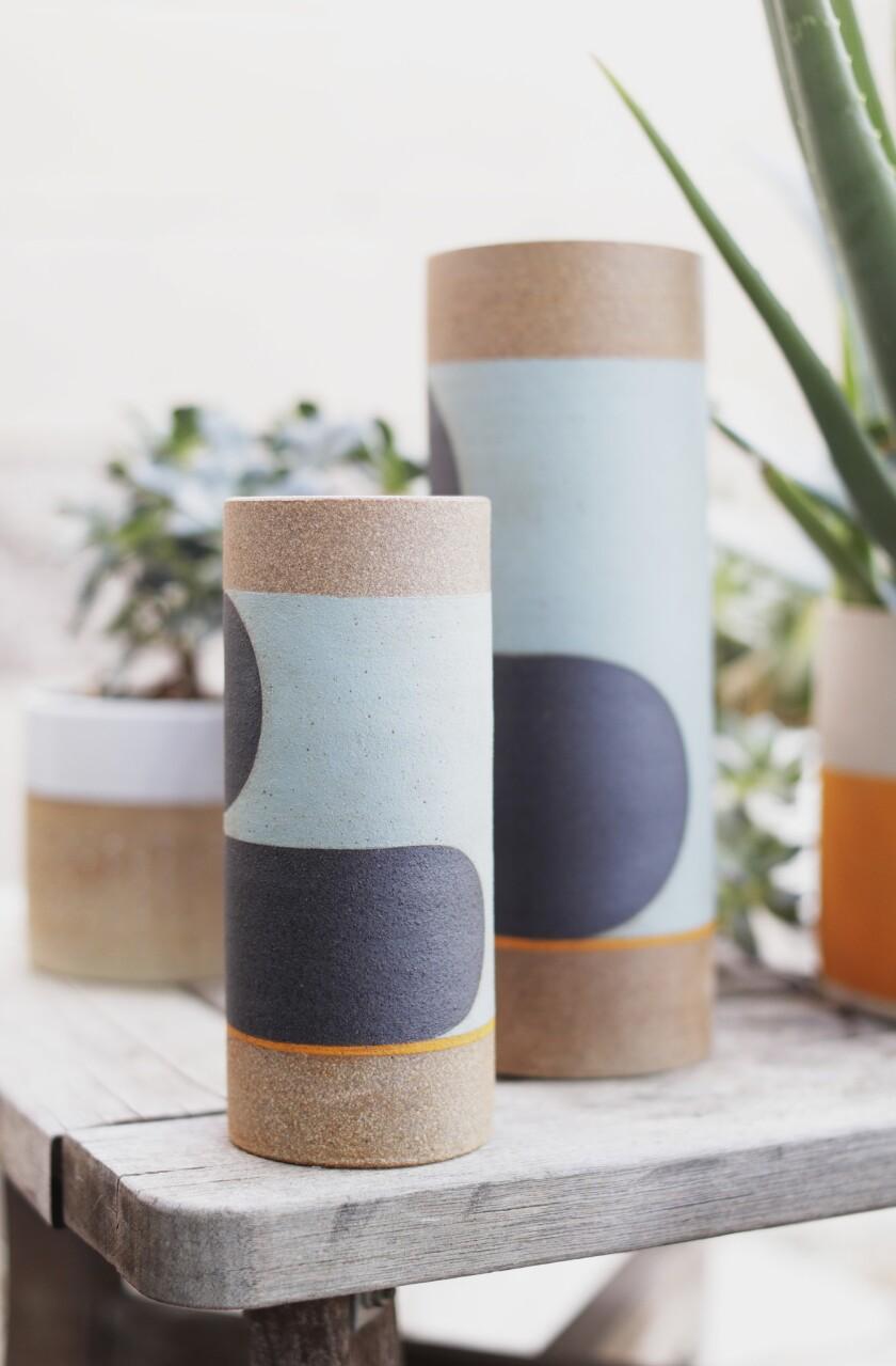 Vases by ceramist Pawena Thimaporn