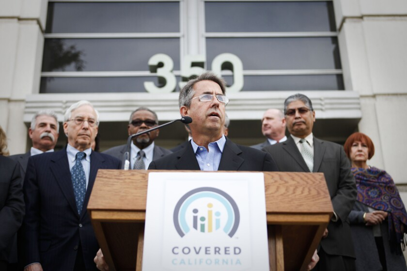 Peter Lee, executive director of Covered California, announced Thursday the new insurance rates for 2015.