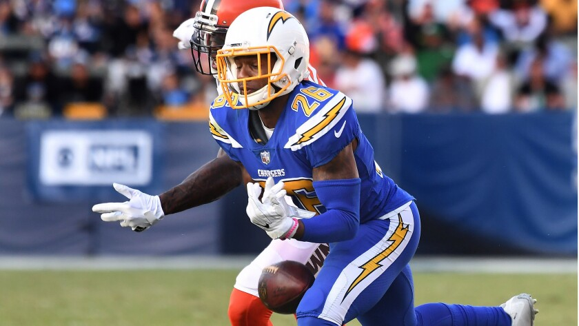 100% authentic 0bedd 54c07 Chargers cornerback Casey Hayward takes care of family and ...