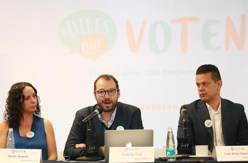 """La campaña """"Diles que voten"""" se presentó hoy en México para responder a aquellos connacionales que se preguntan """"qué pueden hacer"""" frente a las próximas elecciones presidenciales en Estados Unidos."""
