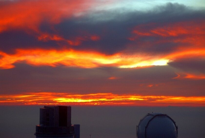 View from the Mauna Kea observatories.