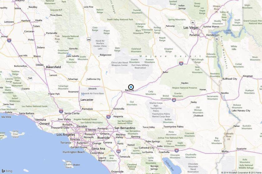 Earthquake: 3.0 quake strikes near Barstow