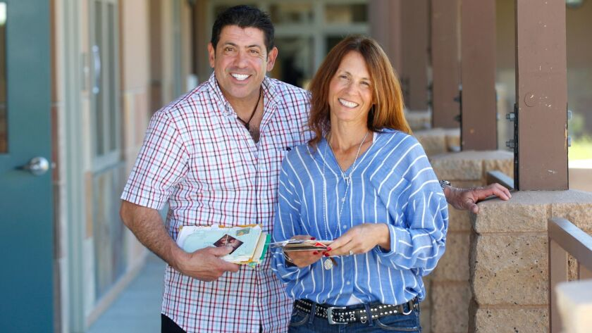 New York resident George Ghossn and Encinitas resident Lori Gertz have been pen pals for 42 years an