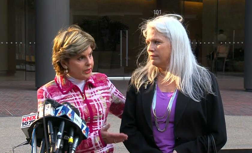 Attorney Gloria Allred and her client Irene McCormack Jackson.