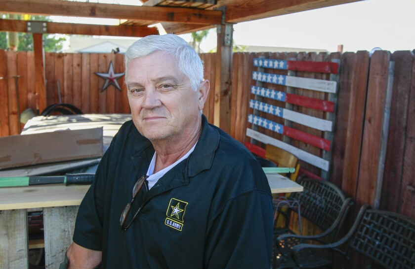 """Retired Command Sgt. Maj. William """"Bud"""" McLeroy at his home. Last year, McLeroy found out about a tax exemption for disabled veterans that ends up taking off $1,300 to $1,400 a year in property taxes — something helpful in a household where money is tight."""