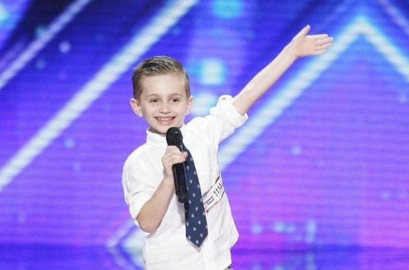"AMERICA'S GOT TALENT -- ""Auditions Pasadena Civic Auditorium"" -- Pictured: Nathan -- (Photo by: Trae Patton/NBC)  User Upload Caption: He is only 6 but Nathan Bockstahler, of Carlsbad, has made it through the initial rounds of NBC TV's ""America's Got Talent."""
