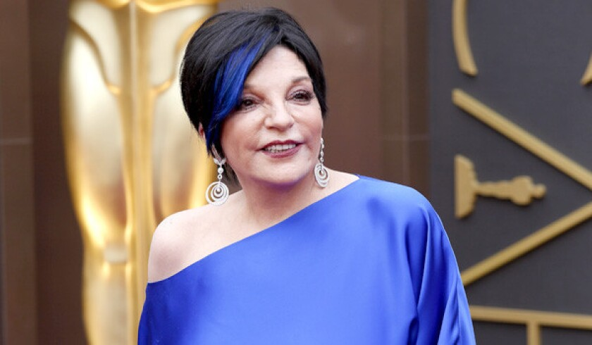 Liza Minnelli arrives at the 86th Annual Academy Awards on March 2, 2014, at the Dolby Theatre in Hollywood.