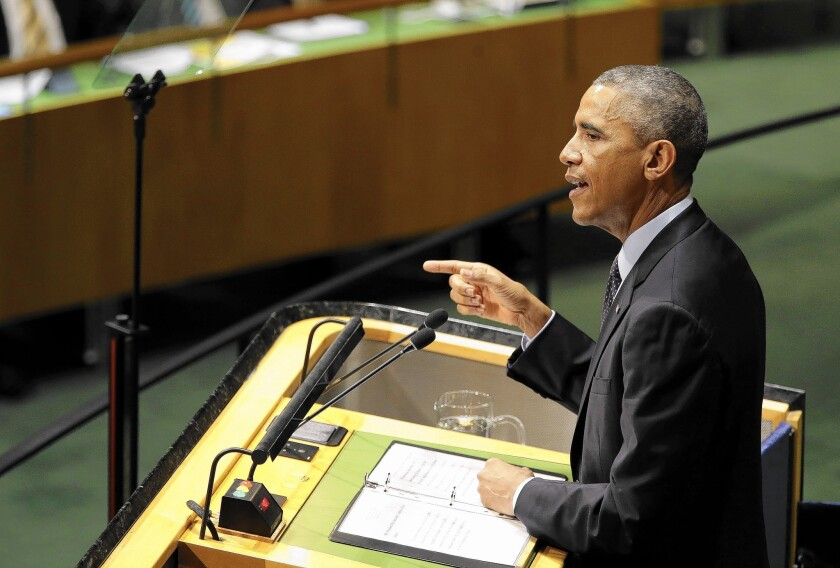 At the U.N. Climate Summit, President Obama bluntly acknowledged U.S. responsibility for global warming.