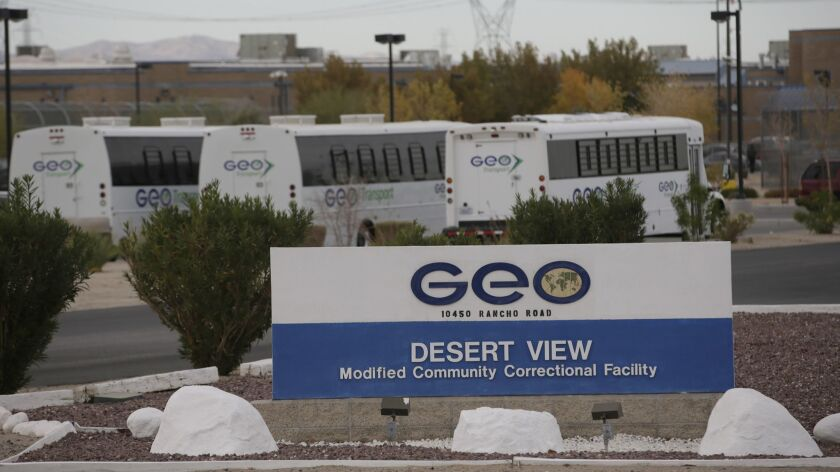 ADELANTO, CA, TUESDAY, NOVEMBER 15, 2016 - An exterior view of the GEO Desert View Modified Communit