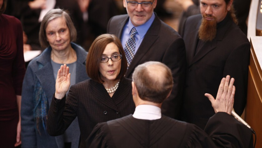 Oregon Gov  Kate Brown, first bisexual governor in U S