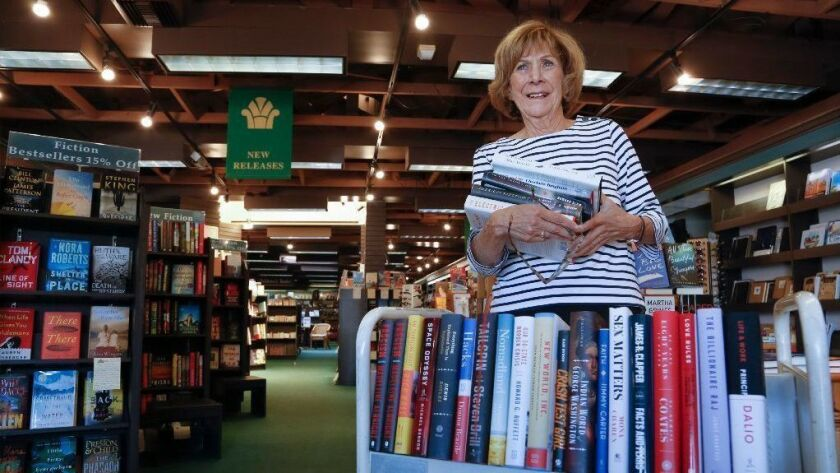 At the Bay Books store in Coronado, Barbara Chambers as been managing the book store for the past 28 years.