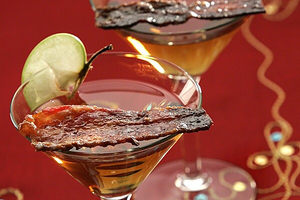 A candied bacon swizzle stick? Genius! This delicious concoction was created by Test Kitchen Director Noelle Carter, and we can't think of a better way to kick off a look at some of the test kitchen's favorite bacon recipes. So, mix up one of these and read on: Recipe: Candied bacon martini