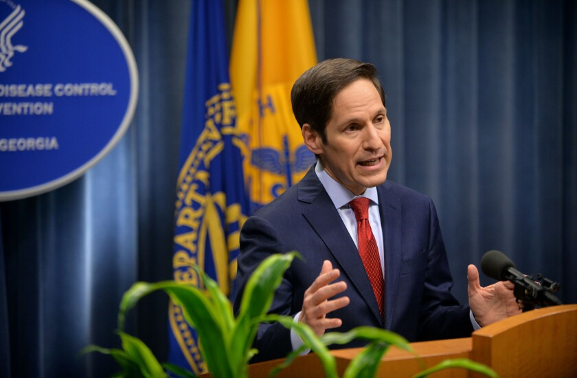 Dr. Tom Frieden, director of the U.S. Centers for Disease Control and Prevention, speaks to reporters in Atlanta on topics including a public health assessment of the Ebola outbreak in West Africa and an update on efforts to control the spread of the disease.