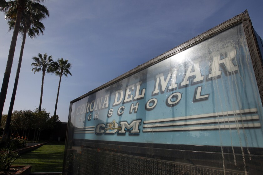 Corona del Mar High School in Newport Beach