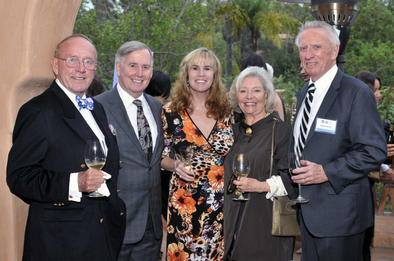 Peter Platt, Jeff Partrick, Trulette Clayes, Kriss Platt, Ronald McDonald House Charities of San Diego Vice Chair Hudson B. Drake