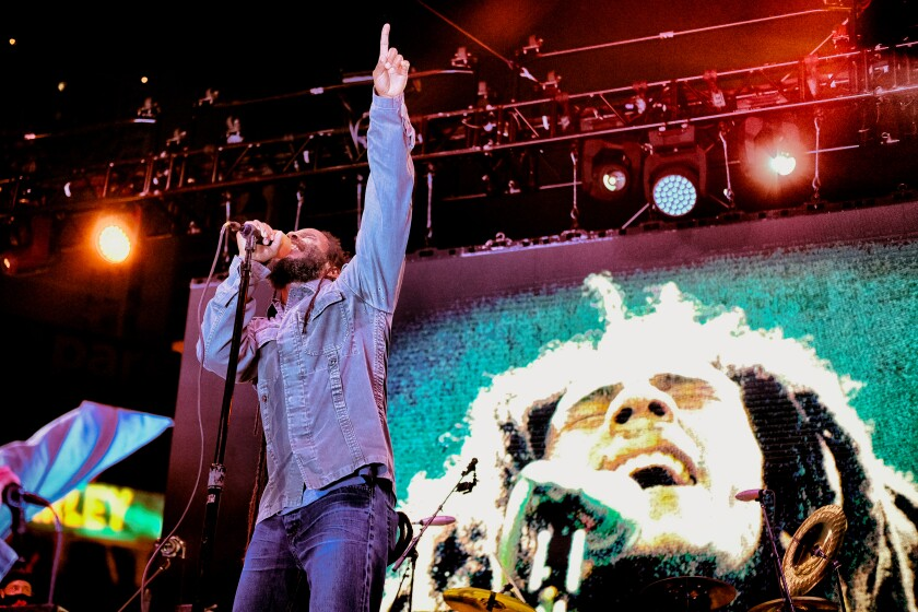 Ziggy Marley performs a concert at Petco Park on Sunday, May 30, 2021.