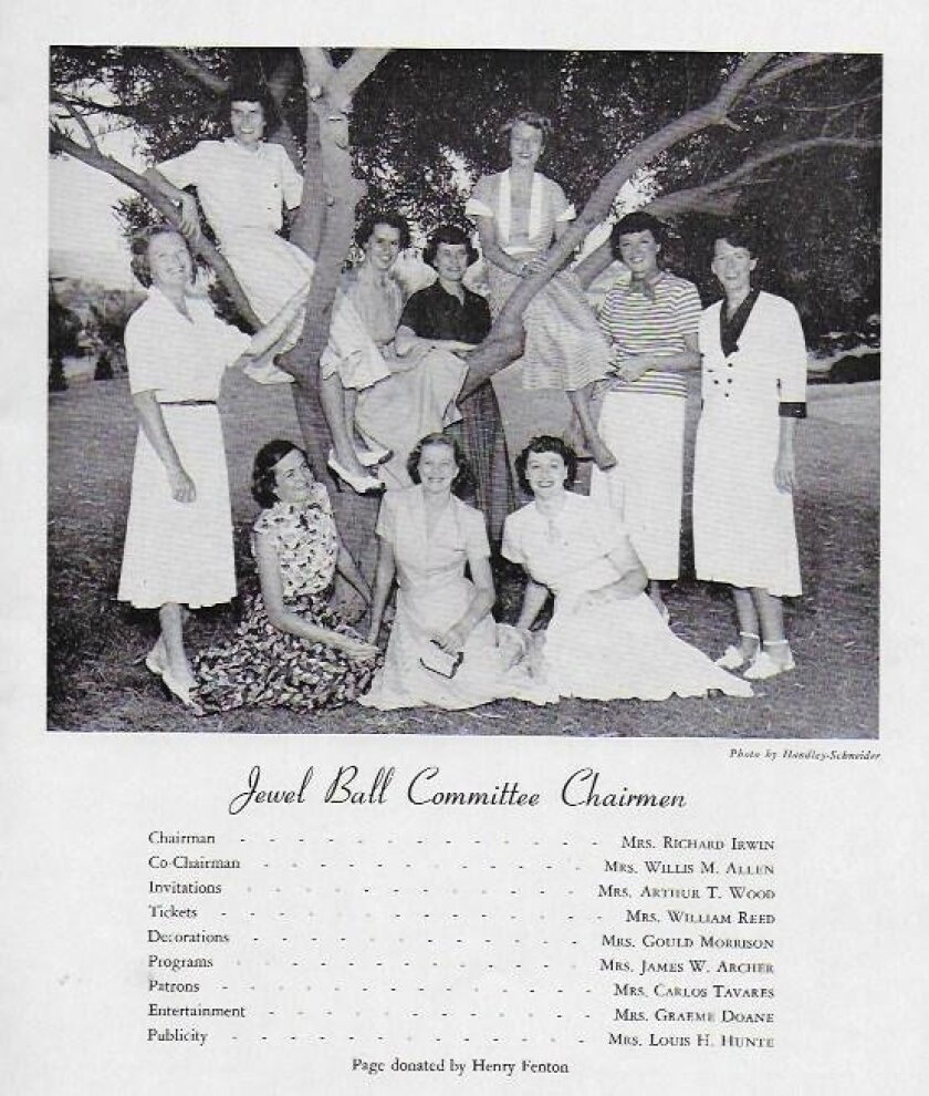 Part of the Las Patronas archives is this poster of the 1950 Jewel Ball planning committee