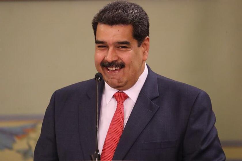 El presidente venezolano, Nicolás Maduro hoy en Caracas (Venezuela). EFE