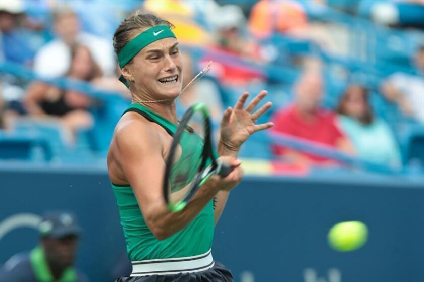 En la imagen, la tenista bielorrusa Aryna Sabalenka. EFE/Archivo