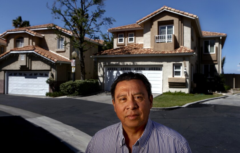 Jesus Sequeira, whose income plunged after his wife died, is fighting to save his Canyon Country home. But there's a glitch: Even though he was listed on the title, only his wife was on the mortgage note