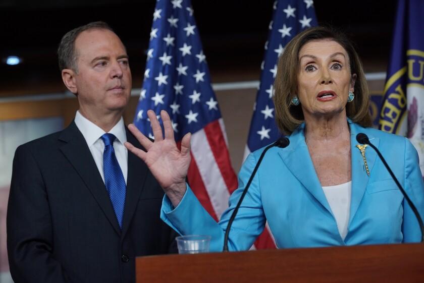 Pelosi and Schiff