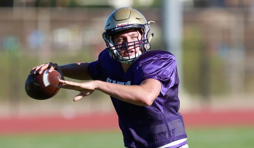 Santana quarterback Josh Oedewaldt will take aim at crosstown rival West Hills.