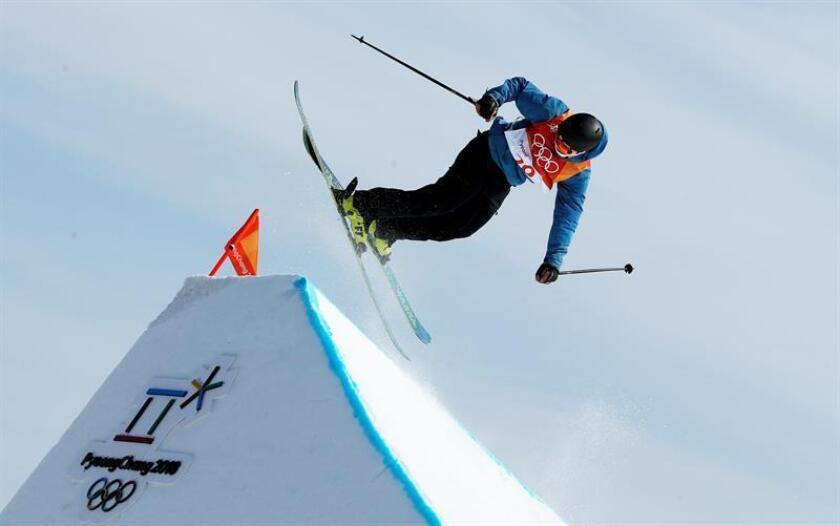Robert Franco of Mexico in action during the Men's Freestyle Skiing Ski Slopestyle Qualifications at the Bokwang Phoenix Park during the PyeongChang 2018 Olympic Games, South Korea. EFE