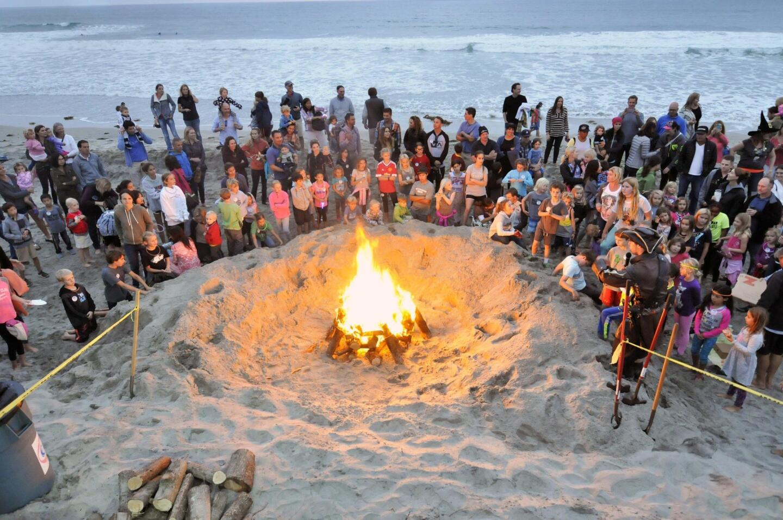 Spooktacular Beach Bonfire