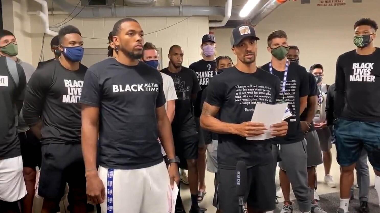 Nba Players Refuse To Play Games Over Jacob Blake Shooting Los Angeles Times